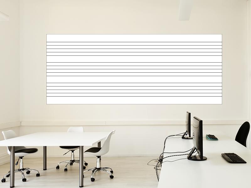Magnetische Whiteboardfolie Notenlinien | selbstklebend | magnetisch | 100x40cm